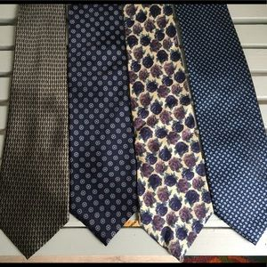 Other - Like New! Set of 4 Mens Silk Ties